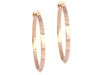 Hermès 18K Rose Gold Mini Clous Hoop Earrings