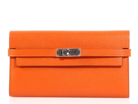 Hermès Long Orange Kelly Wallet