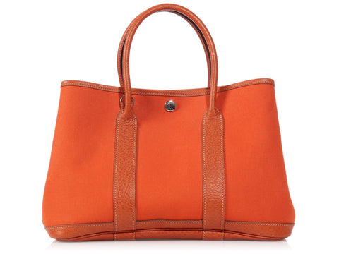 Hermès Orange Canvas Garden Party TPM