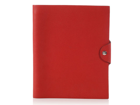 Hermès Red Ulysse Notebook MM