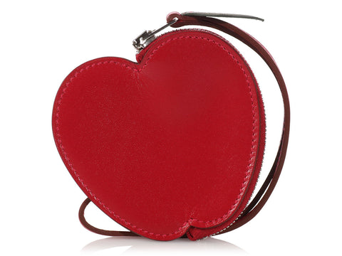 Hermès Rouge Vif Apple Coin Purse