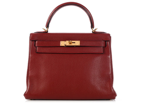 Hermès Rouge H Kelly 28