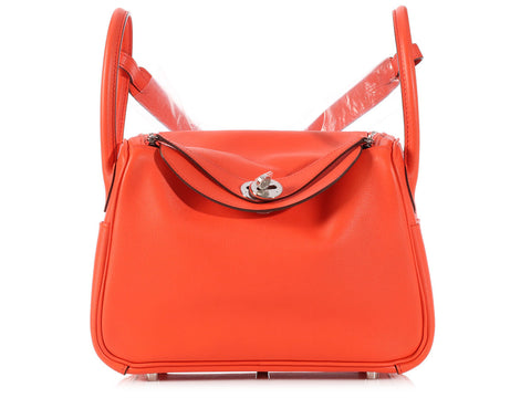 Hermès Orange Poppy Lindy 26