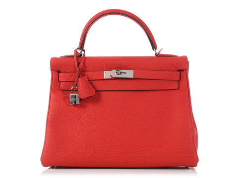 Hermès Vermillion Kelly 32