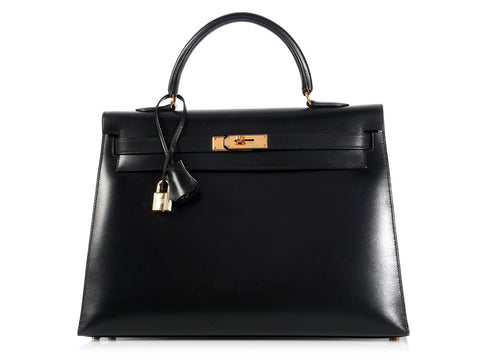 Hermès Black Kelly 35
