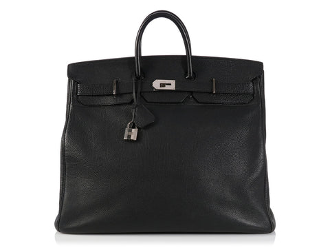 Hermès Black Haut à Courroies Travel Bag Birkin 50