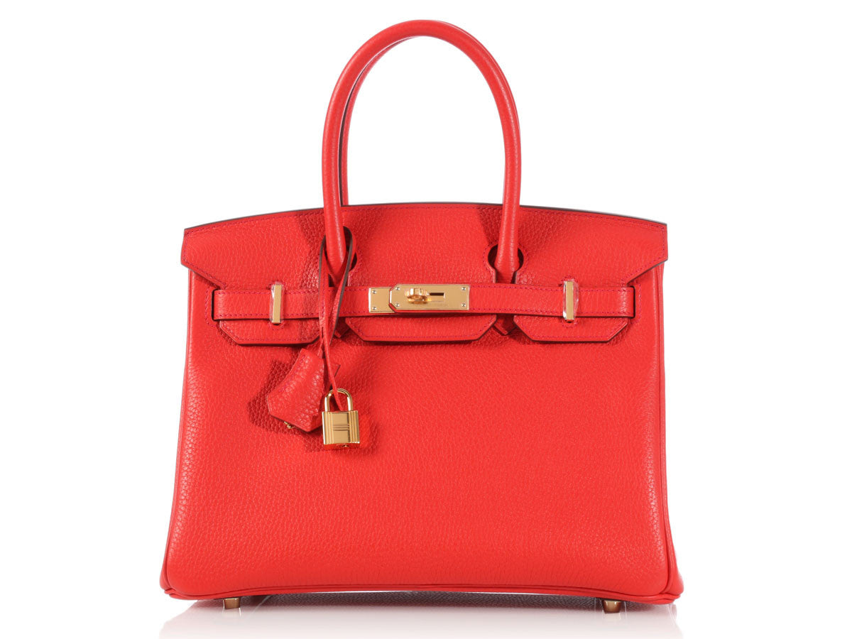 d208254b4532 ... togo leather gold hardware b81d8 1a39c free shipping hermès rouge  tomate birkin 30 3b623 b0142 ...