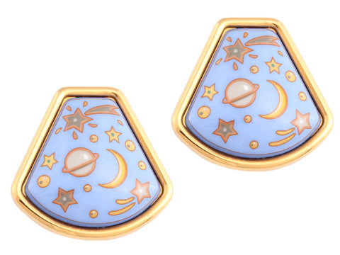 Hermès Vintage Enamel Earrings