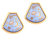 Hermès Vintage Enamel Clip Earrings
