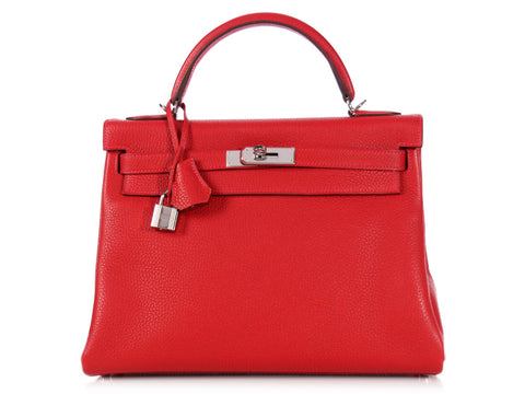 Hermès Rouge Casaque Kelly 32