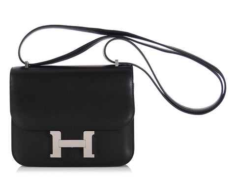 Hermès Black Mini Constance 18