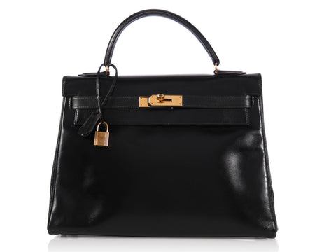 Hermès Black Vintage Kelly 32