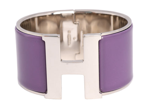 Hermès Extra Wide Purple Clic-Clac