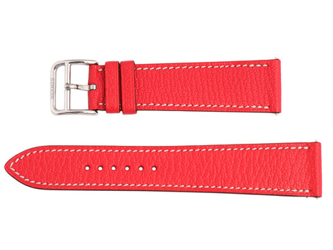 Hermès Bougainvillea Chèvre H Hour MM Watch Strap