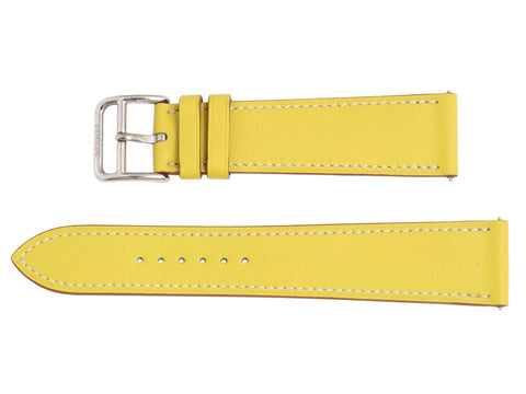 Hermès Lime Leather H Hour MM Watch Strap