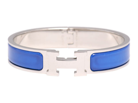 Hermès Narrow Royal Blue Clic-Clac Bracelet