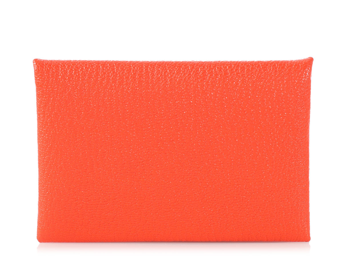Hermès Poppy Orange Calvi Case