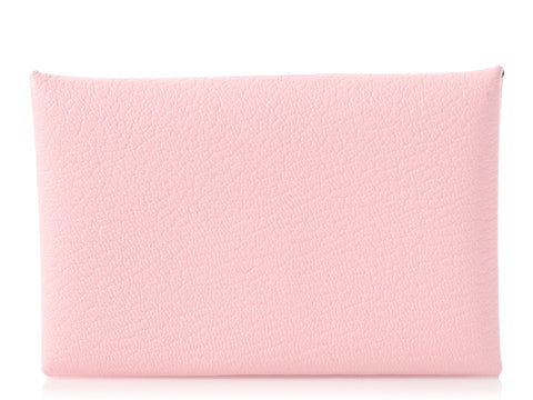 Hermès Rose Sakura Calvi Card Case