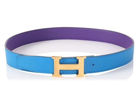 Hermès Ultraviolet and Blue Hydra Reversible Belt Kit