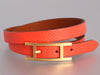 Hermès Poppy Orange Behapi Double Tour Bracelet