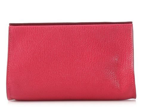 Hermès Rose-Red Karo PM