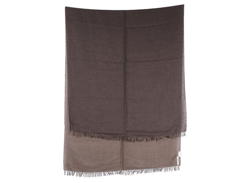 Hermès Charcoal and Burlap Two-Tone Stole