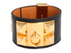 Hermès Black Collier de Chien Bracelet CDC