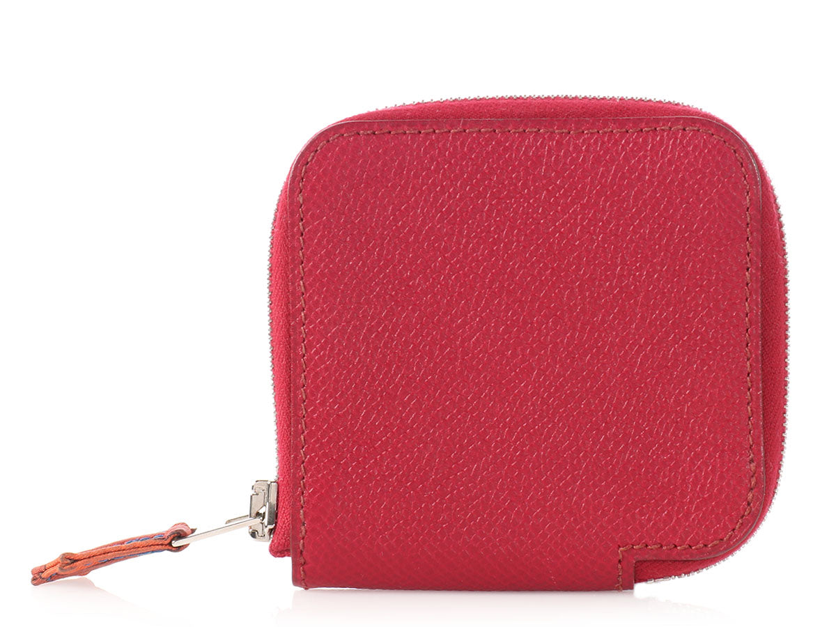 Hermès Rubis Silk'in Change Purse