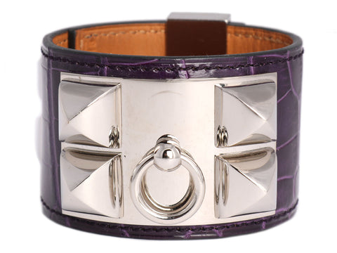 Hermès Amethyst Alligator Collier de Chien CDC
