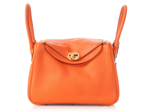 Hermès Orange Lindy 26