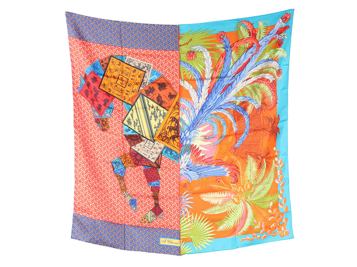 "Hermès Phoenix à Cheval ""Happy Meeting"" Scarf 90cm"