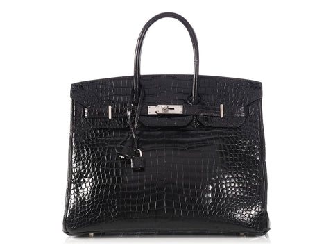 Hermès Black Crocodile Birkin 35