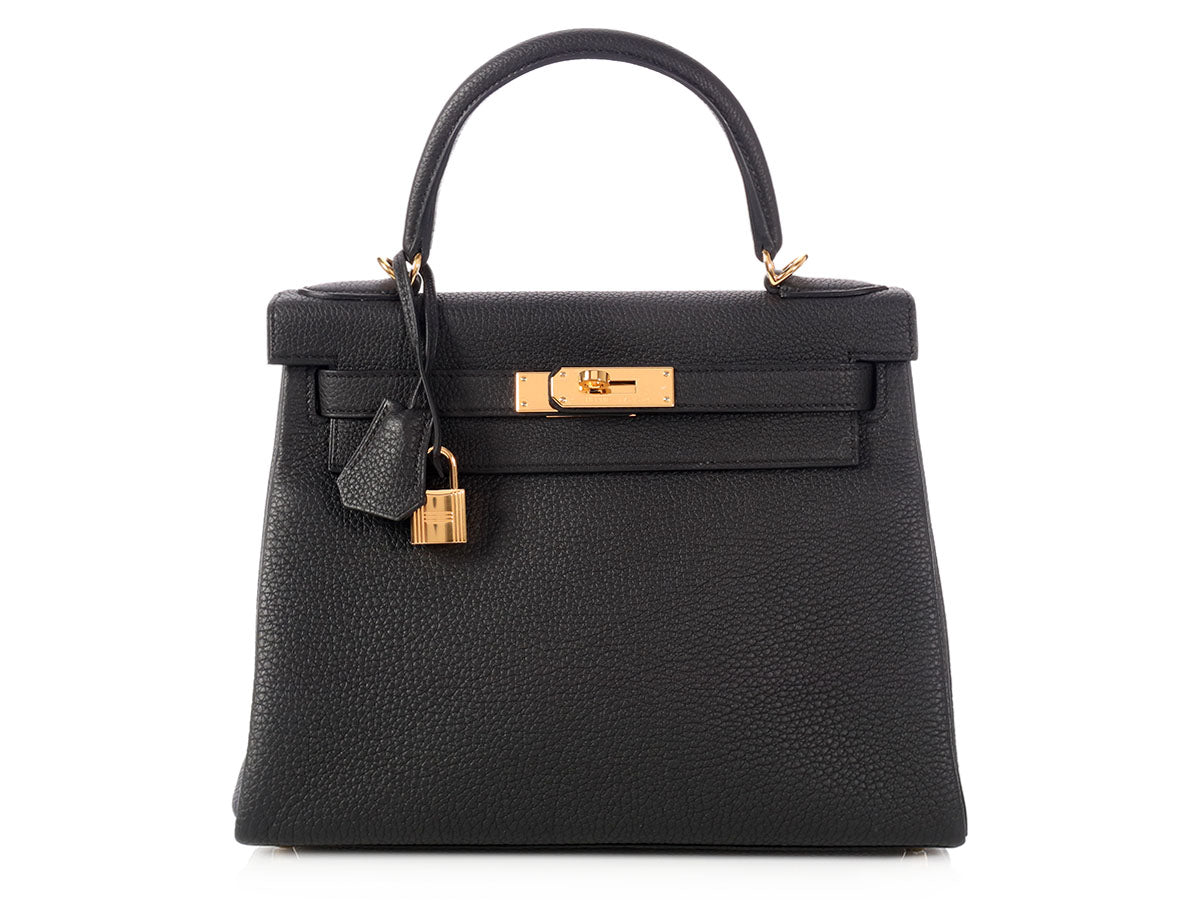 Hermès Black Kelly 28