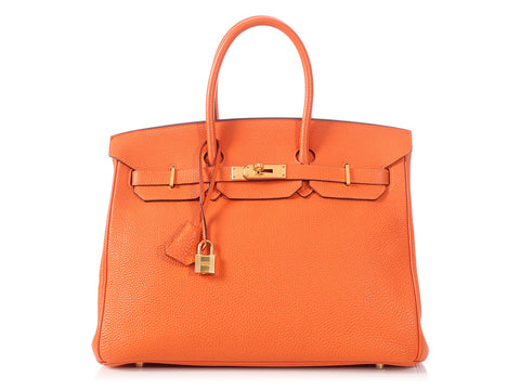 Hermès Orange Togo Birkin 35