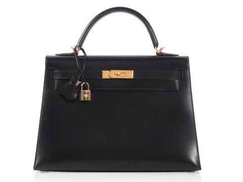 Hermès Black Box Calf Kelly 32
