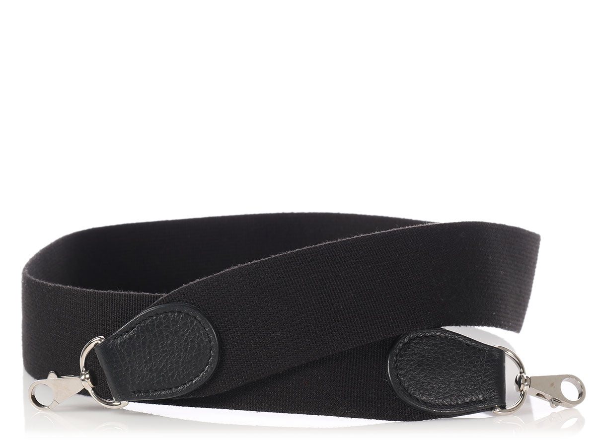 Hermès Black Canvas Shoulder Strap