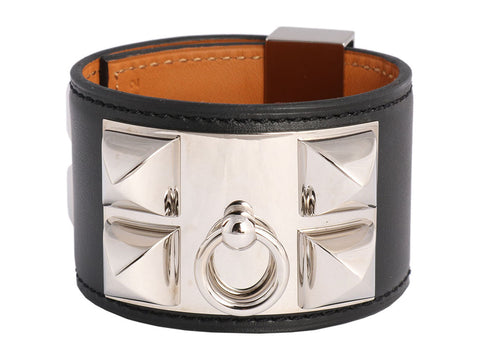 Hermès Black Swift Collier de Chien CDC Bracelet