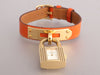 Hermès Orange Swift Kelly Lock Watch