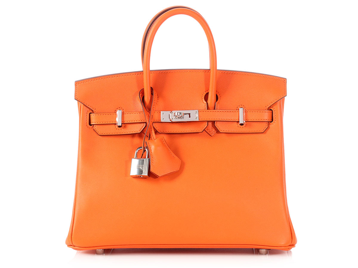 Hermès Orange Swift Birkin 25