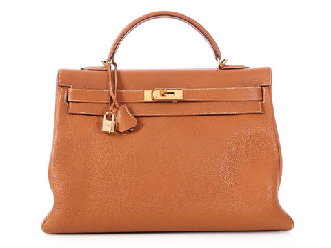 Hermès Gold Togo Kelly 40