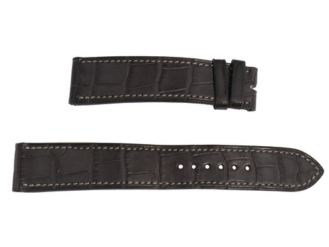 Hermès Large Graphite Matte Alligator Cape Cod Watch Strap 18mm