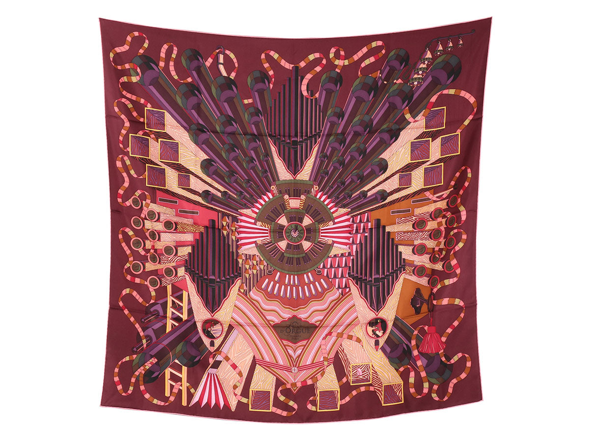 Hermès Point d'Orgue Silk Scarf 90cm