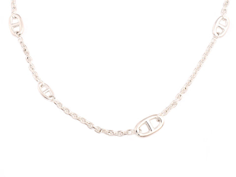 Hermès Sterling Silver Farandole Necklace 120