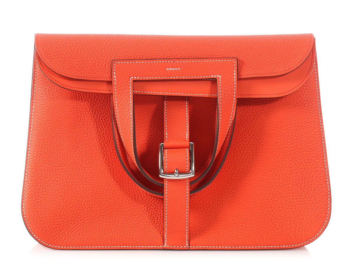Hermès Orange Poppy Clémence Halzan 31