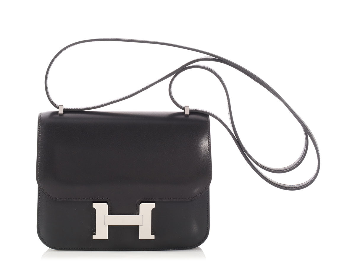 Hermès Black Evercalf Constance 18