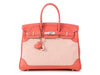 Hermès Sanguine Swift and Toile Birkin Ghillies 35
