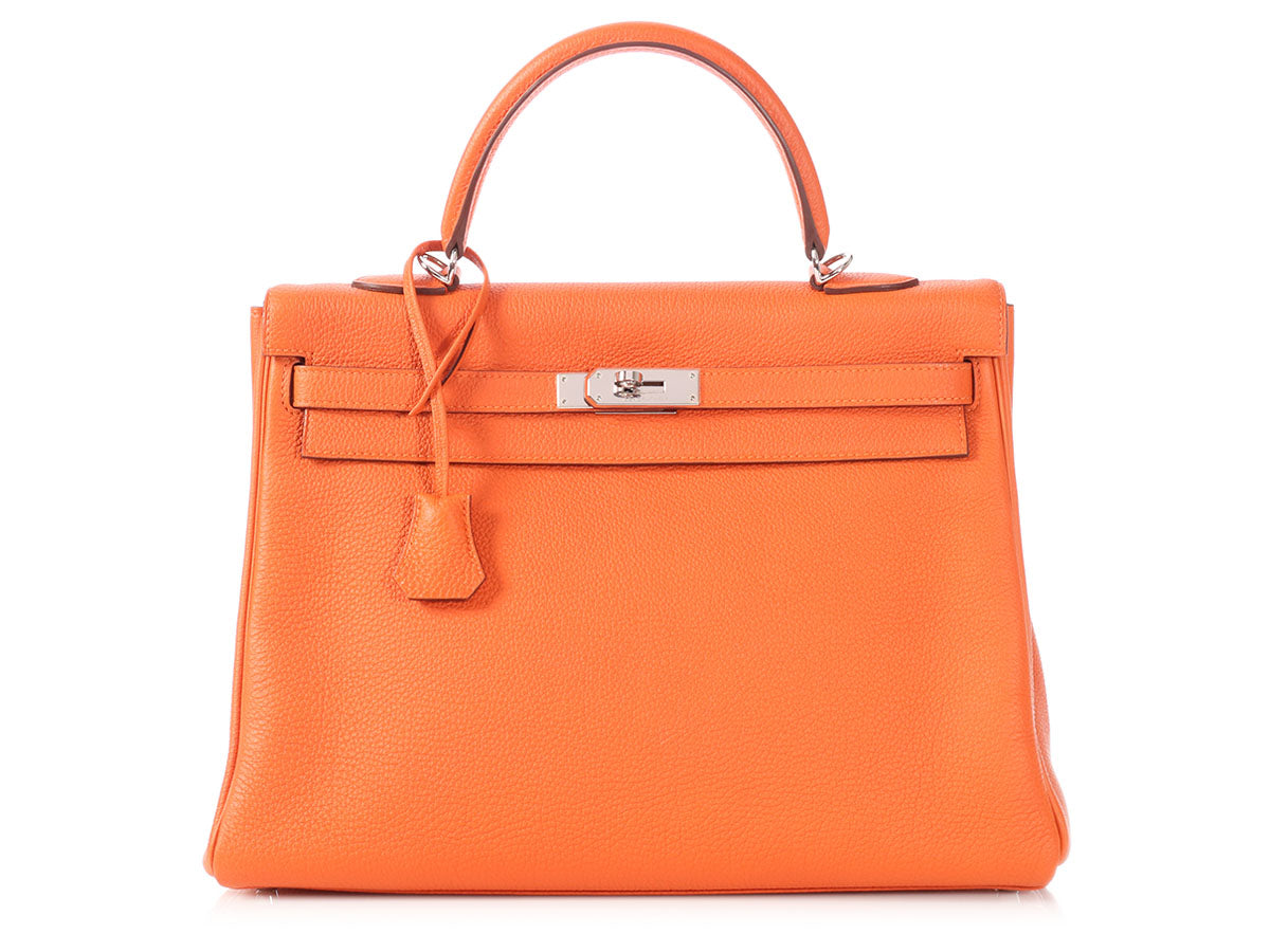Hermès Orange Togo Kelly 35
