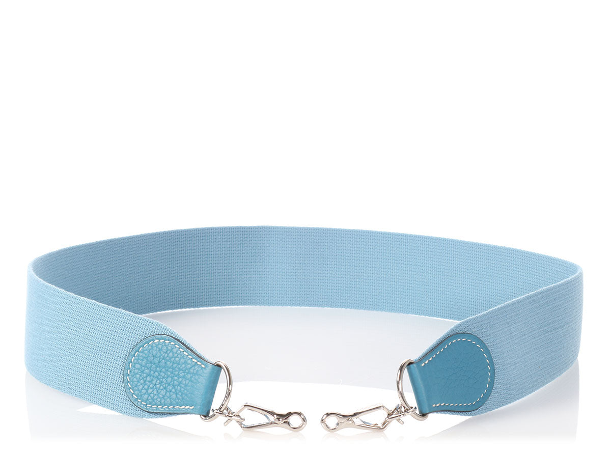Hermès Blue Jean Togo and Webbing Strap