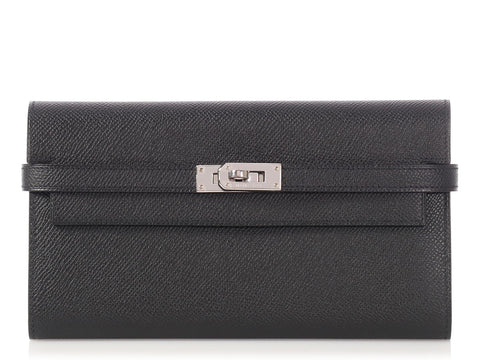 Hermès Black Epsom Kelly Wallet