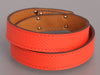 Hermès Orange Poppy Epsom Kelly Double Tour Bracelet